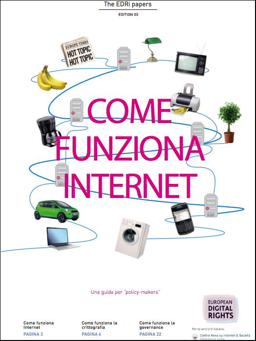 'Come funziona Internet' - Edri, traduzione a cura del Centro Nexa su Internet & Società